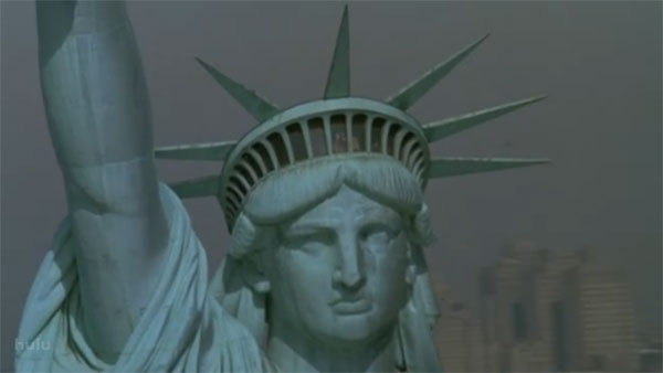 The Statue Liberty from Working Girl Opening Credits via stylealchemy