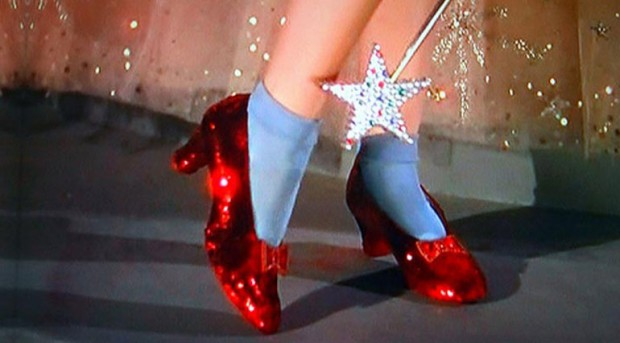 Dorothy from the Wizard of Oz ruby slippers